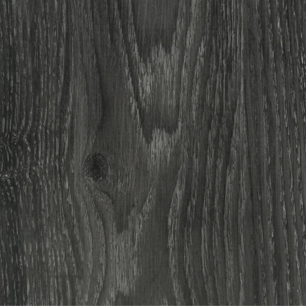 Trafficmaster allure ultra 7 5 in x 47 6 in aspen oak for Dark wood vinyl flooring