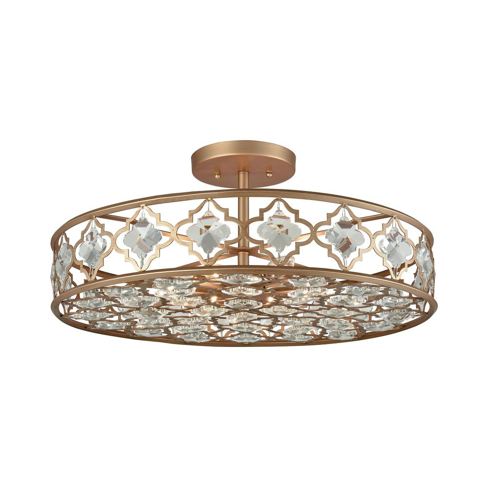 Titan Lighting Armand 8-Light Matte Gold With Clear