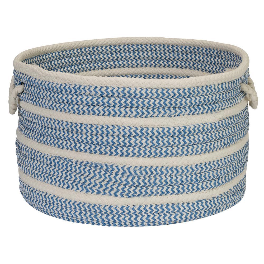 18 in. x 18 in. x 12 in. Blue Ice Petunia Basket