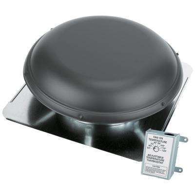 1320 CFM Weatherwood Power Roof Mount Attic Ventilator