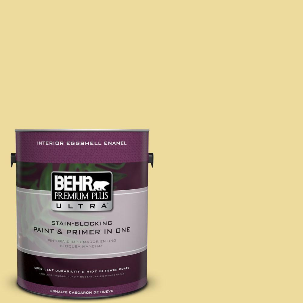 BEHR Premium Plus Ultra 1-gal. #P330-3 Pear Cider Eggshell Enamel Interior Paint
