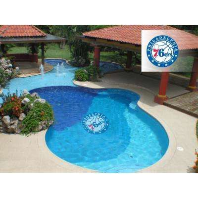 NBA Philadelphia 76ers 29 in. x 29 in. Small Pool Graphic