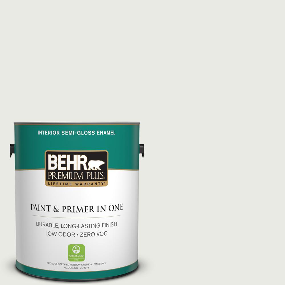 1 gal. #PPU12-12 Gallery White Zero VOC Semi-Gloss Enamel Interior Paint