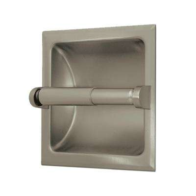 Recessed Toilet Paper Holder in Satin Nickel