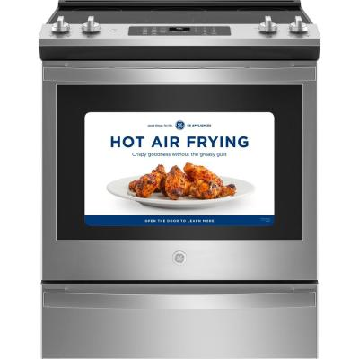 30 in. 5.3 cu. ft. Slide-In Electric Range with Self-Cleaning Convection Oven and Air Fry in Stainless Steel