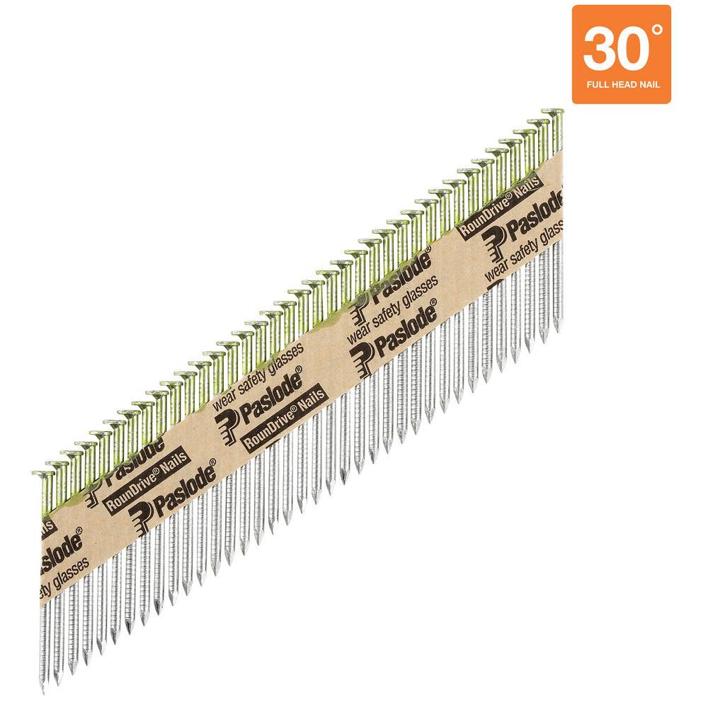 2-3/8 in. x 0.113-Gauge 30-Degree Galvanized Ring Shank Paper Tape Framing Nails (2,000 per Box)