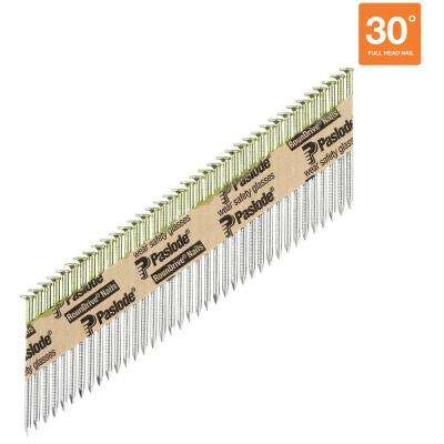 2-3/8 in. x 0.113-Gauge 30-Degree Galvanized Ring Shank Paper Tape Framing Nails (2,000 per Box)