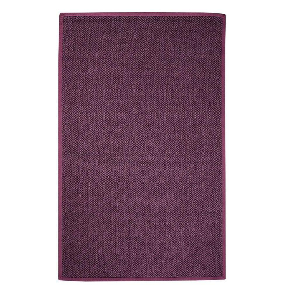 Home Decorators Collection Diamond Jute Eggplant 7 ft. x 9 ft. Area Rug