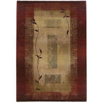 Mantra Red 5 ft. 3 in. x 7 ft. 6 in. Area Rug