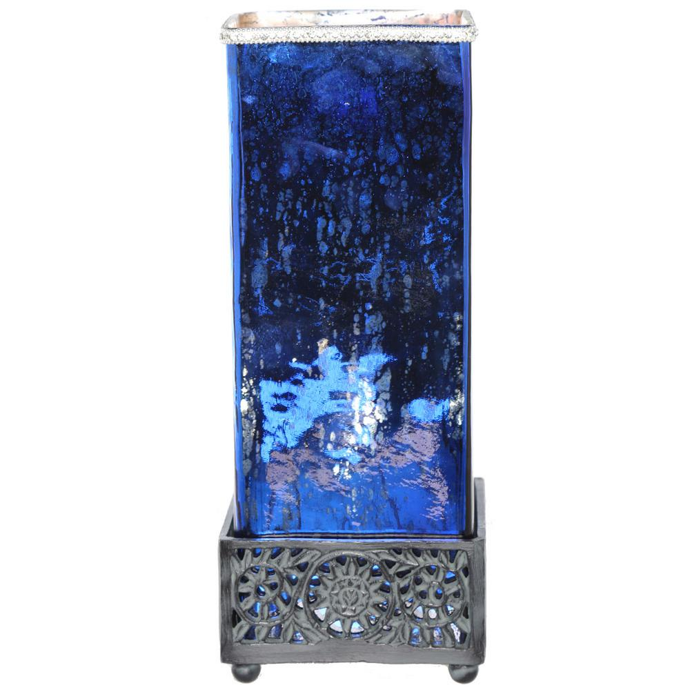 River Of Goods 14 75 In Blue Table Lamp With Square