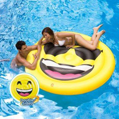 69 in. Dia Double-Sided Emoji Island Float