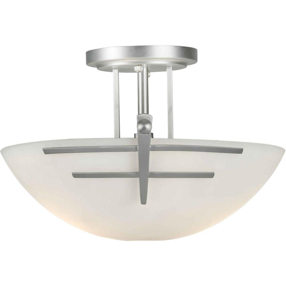 Talista Burton 2 Light Brushed Nickel Incandescent Ceiling Semi Flush Mount Cli Frt2231 02 55