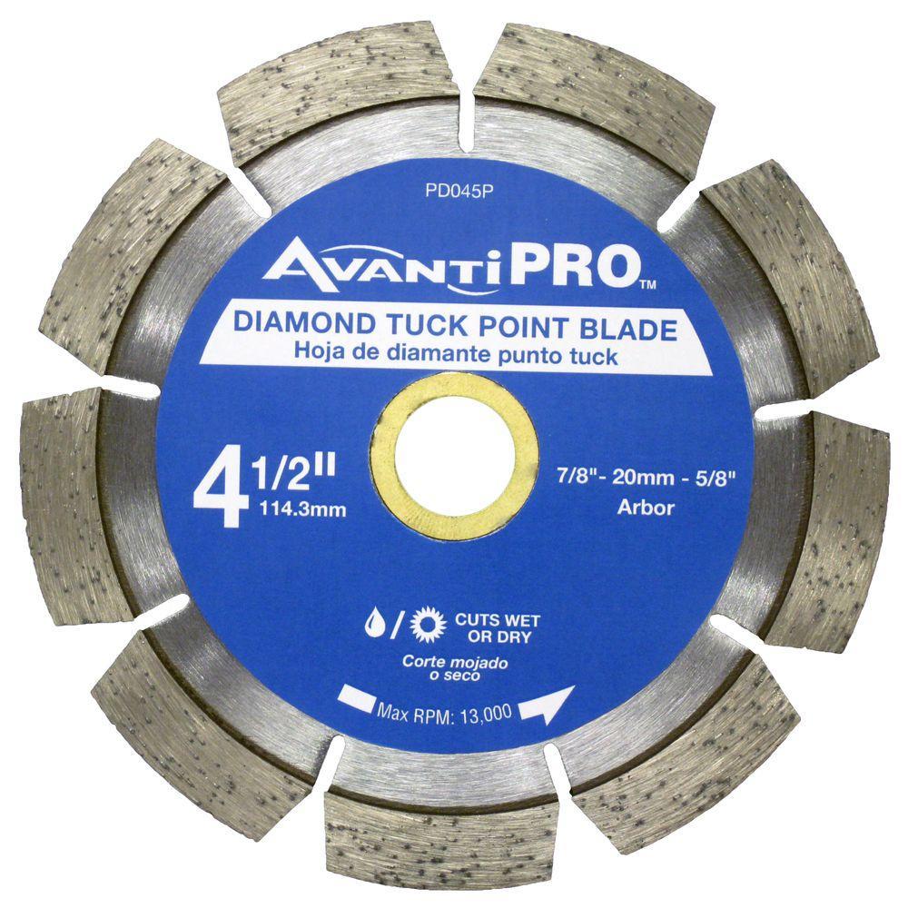 Avanti Pro 4-1/2 in. Diamond Tuck Point Blade