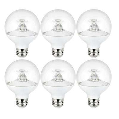 60-Watt Equivalent Clear G25 Dimmable LED Light Bulb, Warm White (6-Pack)