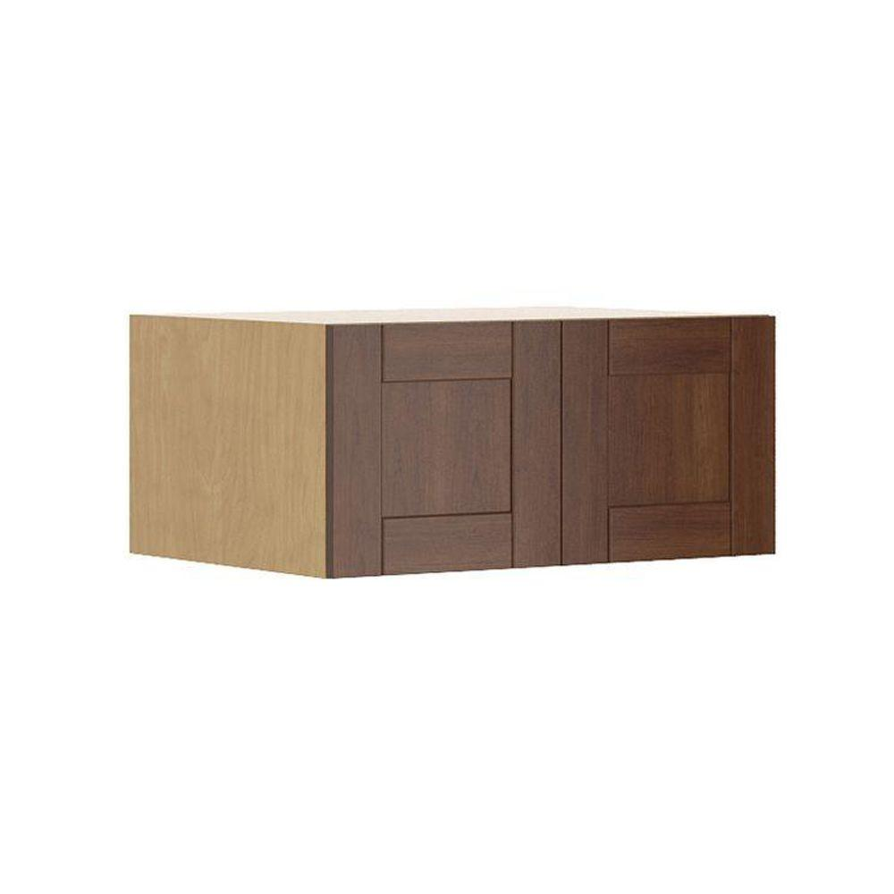 Eurostyle Ready To Assemble 33x15x24 In. Lyon Fridge Top Wall Cabinet In  Maple Melamine And
