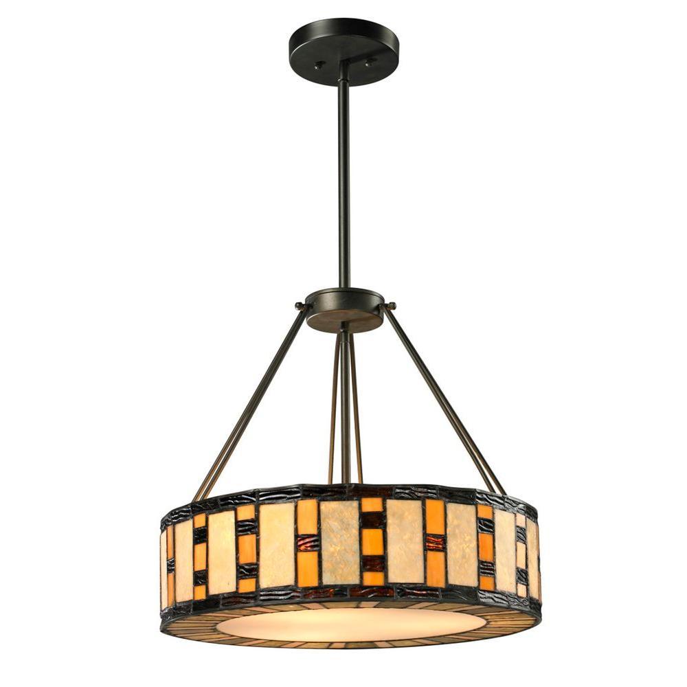 Filament Design Cafe 3-Light Java Bronze Pendant-CLI-JB