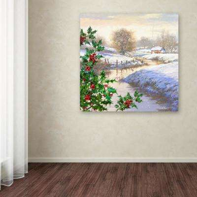 "35 in. x 35 in. ""Christmas Stream"" by The Macneil Studio Printed Canvas Wall Art"
