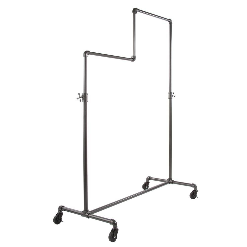Pipeline 50 in. W x 78 in. H Adjustable Height Gray