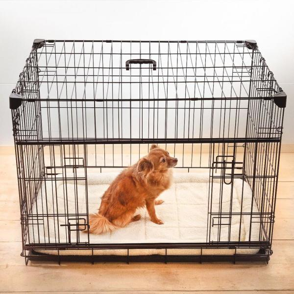 Sliding Double Door Dog Crate With