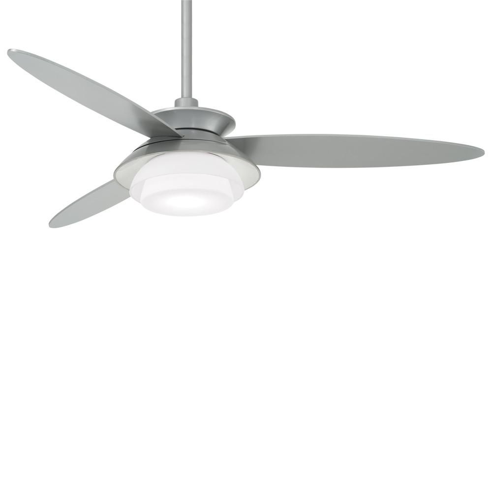 Minka-Aire Stack 56 in. Integrated LED Indoor Silver Ceiling Fan with Light with Remote Control