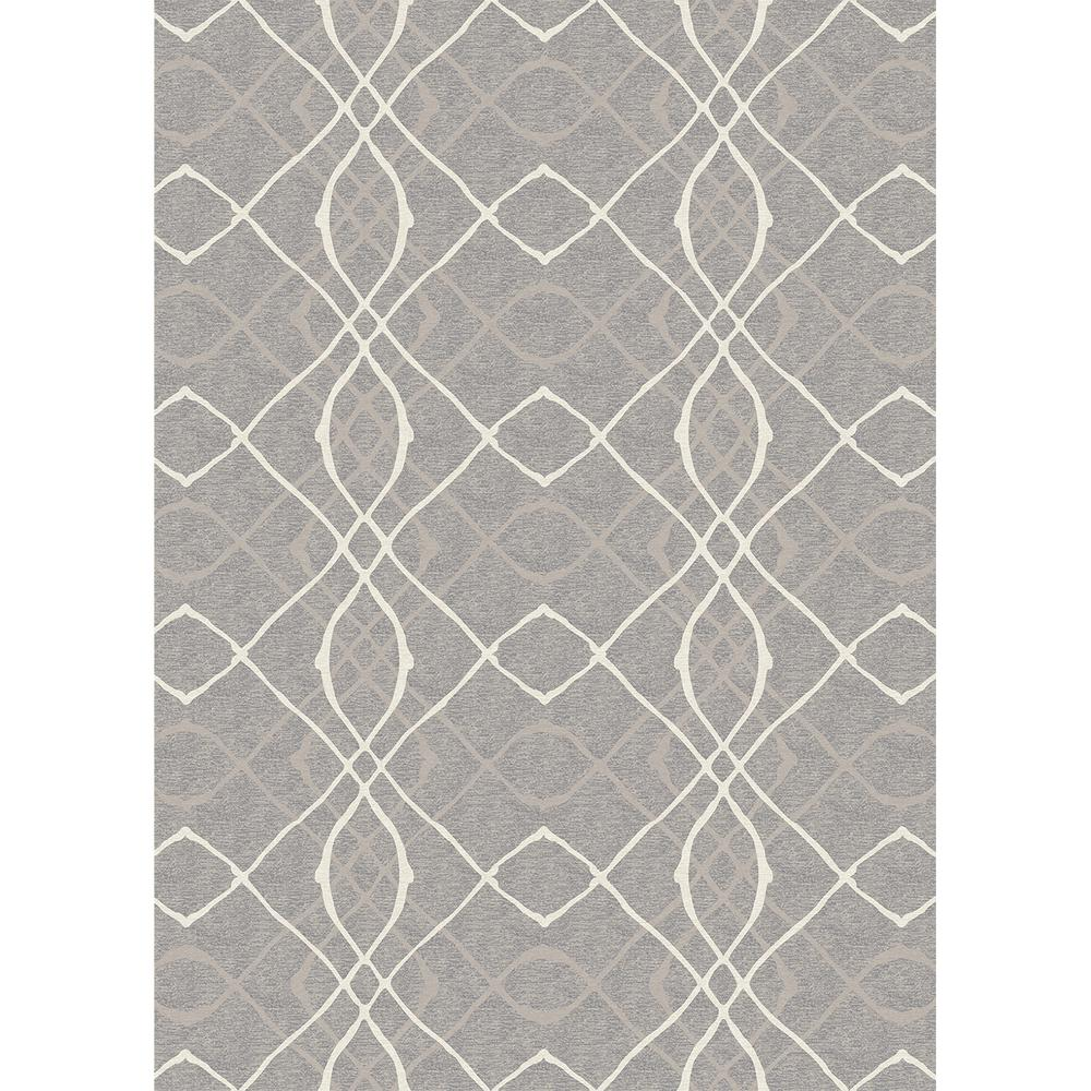 Ruggable Washable Amara Grey 5 Ft. X 7 Ft. Stain Resistant Area Rug