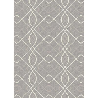 Washable Amara Grey 5 ft. x 7 ft. Stain Resistant Area Rug