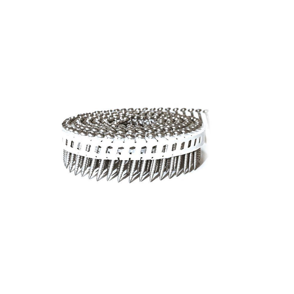 Scrail 1-3/4 in. x 0.082 in. 15-Degree Plastic Mini-Sheet Coil Pozi Pan Head Nail Screw Fastener (6,400-Pack)