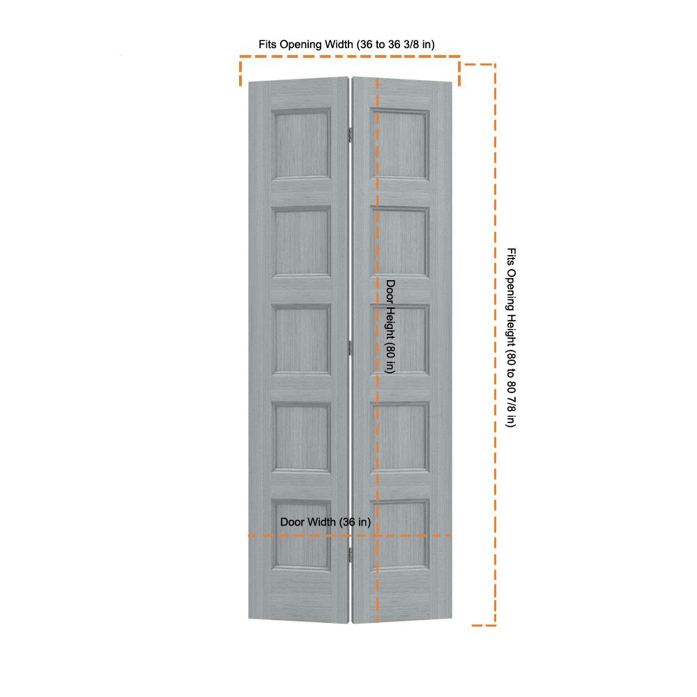 Jeld Wen 36 In X 80 In Conmore Stone Stain Smooth Hollow Core Molded Composite Interior Closet Bi Fold Door