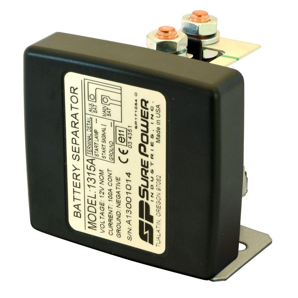 Automotive Fuses Power Distribution The Home Depot 12 Volt Fuse Box Enclosed 100 Amp Bi Directional Battery Separator