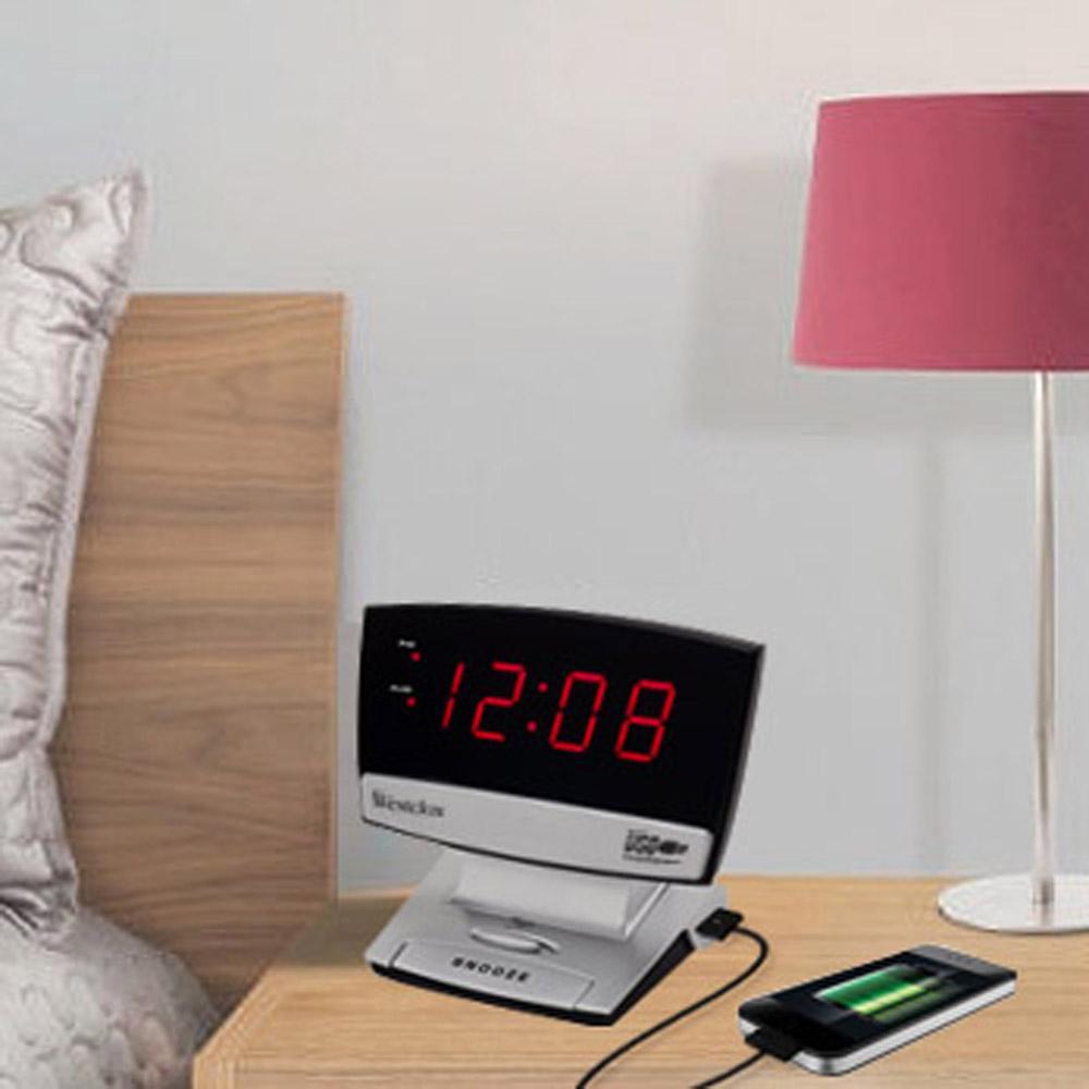 USB Charging LED Alarm Clock