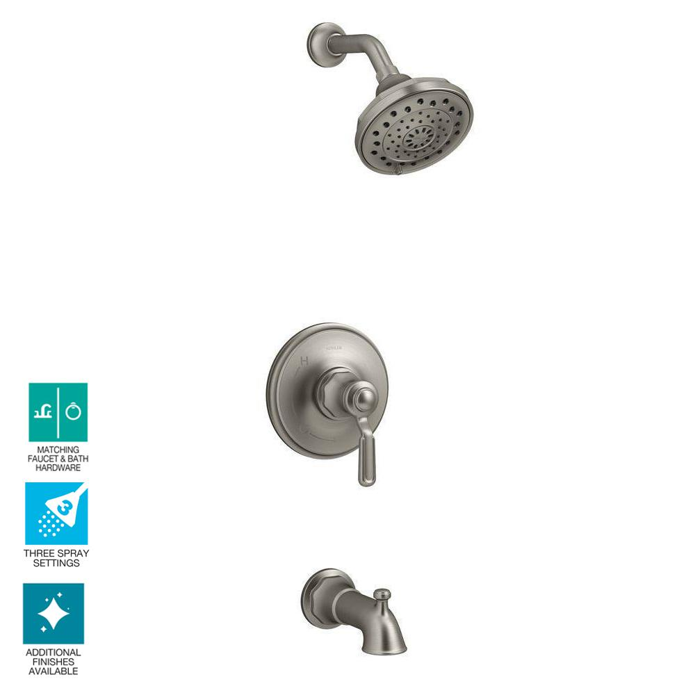 Kohler Worth Single Handle 3 Spray Tub And Shower Faucet In Oil