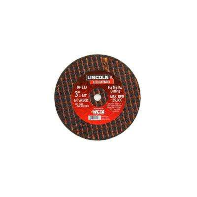3 in. x 1/8 in. Red 1/4 in. Arbor Cut-Off Wheel