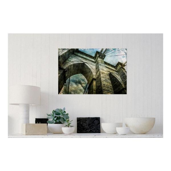 Amanti Art 30 in. W x 20 in. H 'Brooklyn Bridge