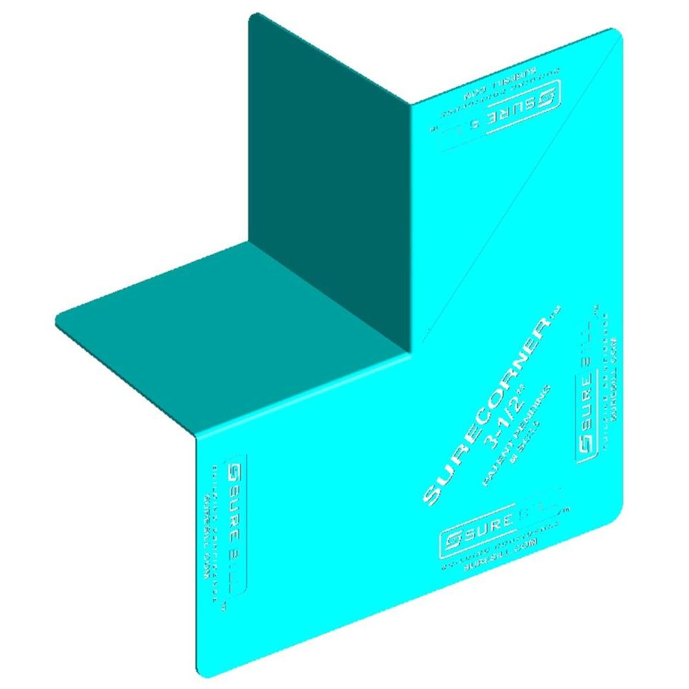 SureSill SureCorner 3-1/2 in. x 7 in. Green PVC Flashing for Door and Window