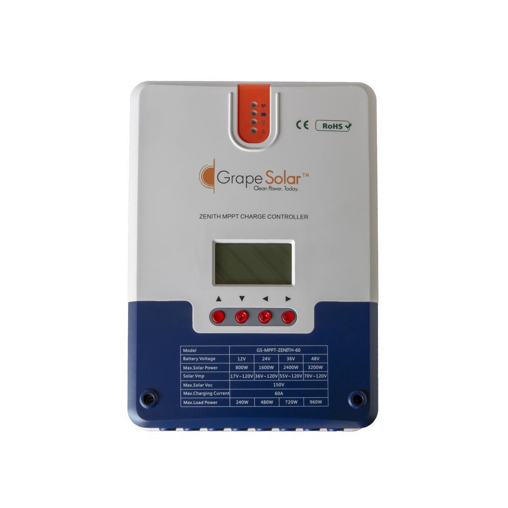 Grape Solar Zenith 12/24/36/48-Volt 60 Amp MPPT Solar Charge Controller