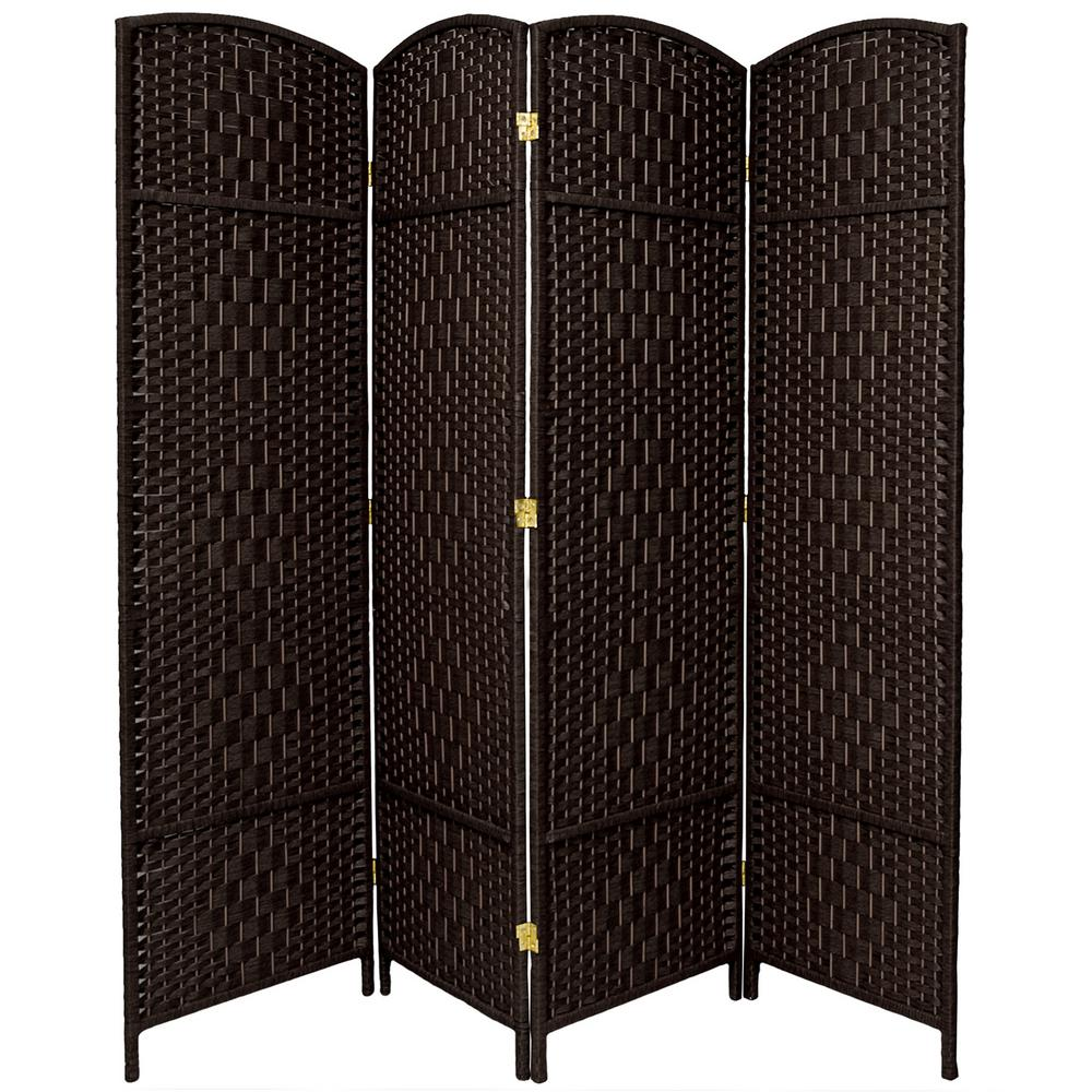 Oriental Furniture 6 Ft Dark Red 4 Panel Room Divider Fbopdmnd4pdrd The Home Depot