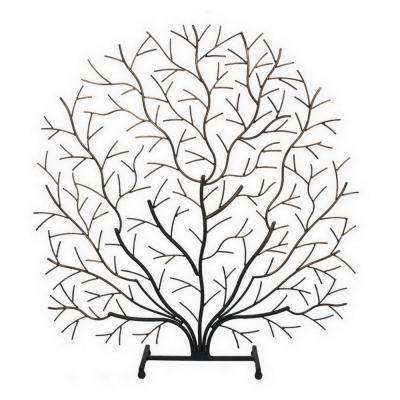"27 in. x 6.5 in. Iron ""Twig"" Table Top Decor in Black"