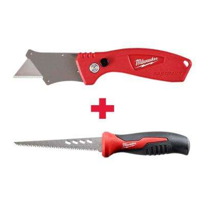 FASTBACK Compact Flip Utility Knife With 6 in. Fixed Jab Saw