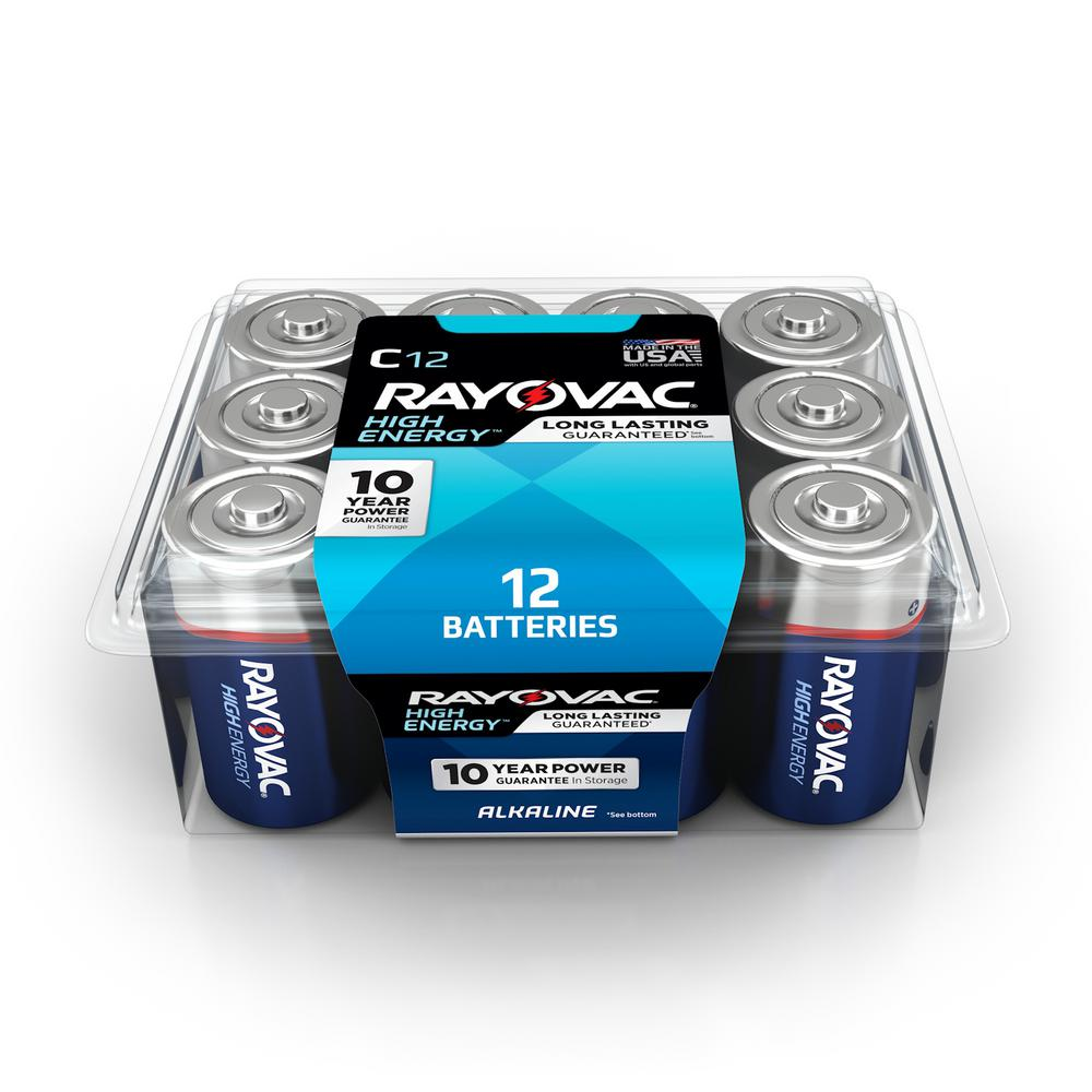 Rayovac C 12-Pack Alkaline Batteries