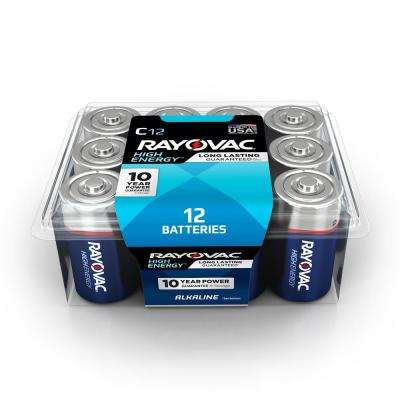 C 12-Pack Alkaline Batteries