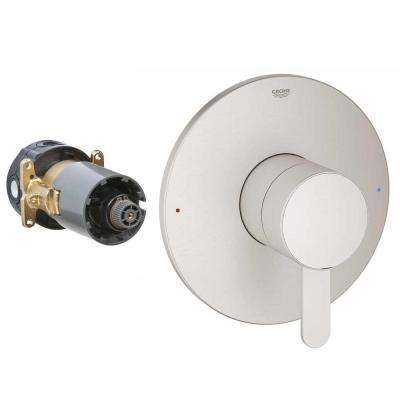 Single-Handle Rough-In Box Single-Function Pressure Balance Valve Trim Kit in Brushed Nickel (Valve Not Included)