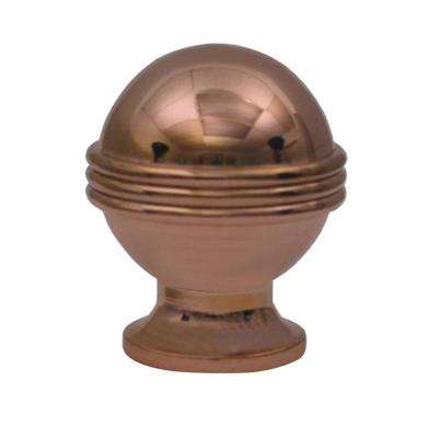 1-1/8 in. Polished Copper Sphere Shaped Knob