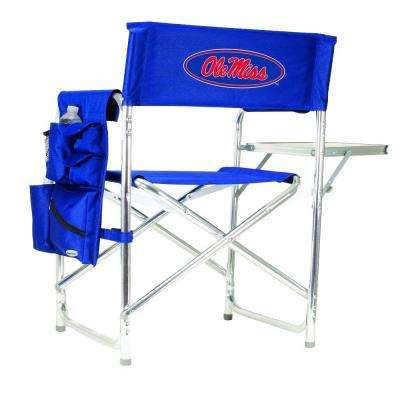 University of Mississippi Navy Sports Chair with Digital Logo