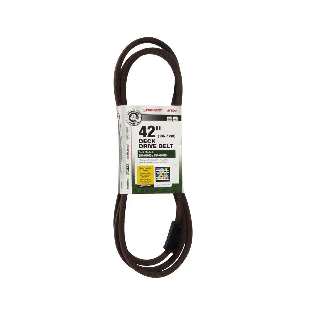 Troy Bilt Deck Drive Belt for 42 in. Lawn Tractors 2003 t...