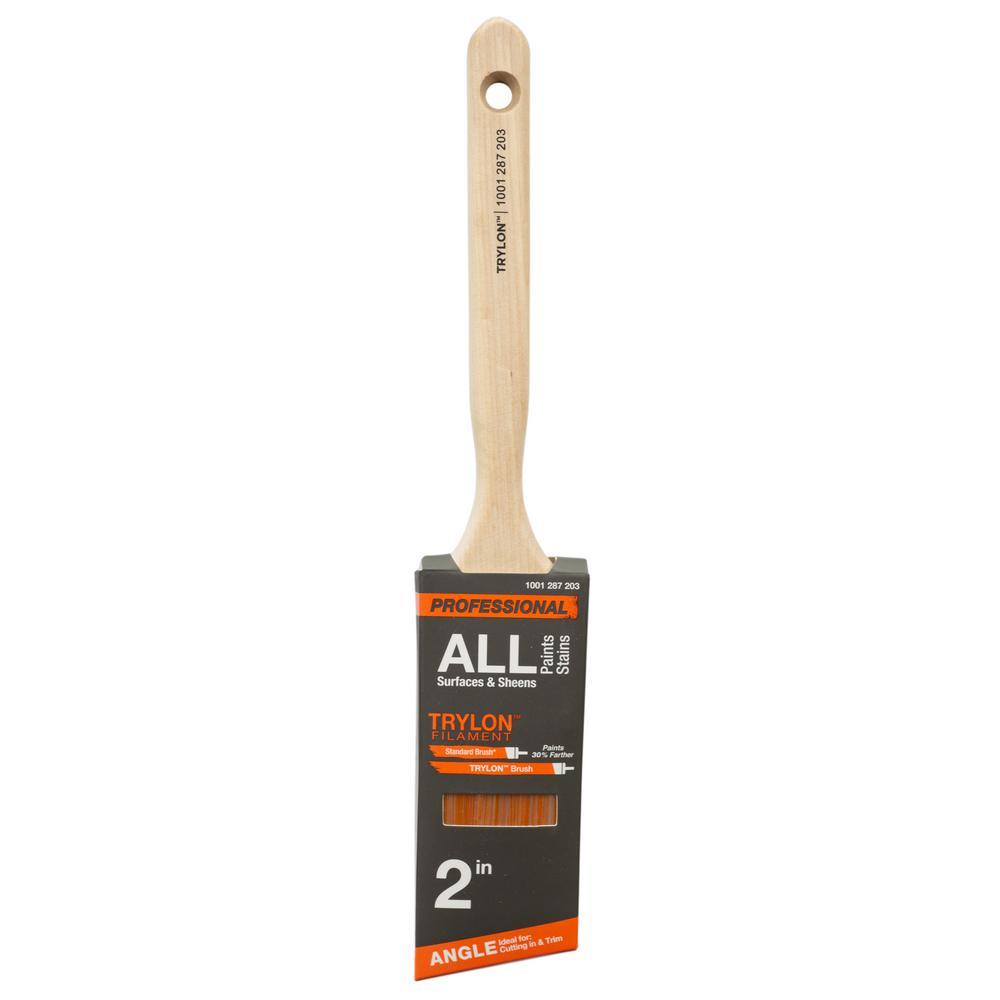 PRO 2 in. Trylon Angled Sash Paint Brush