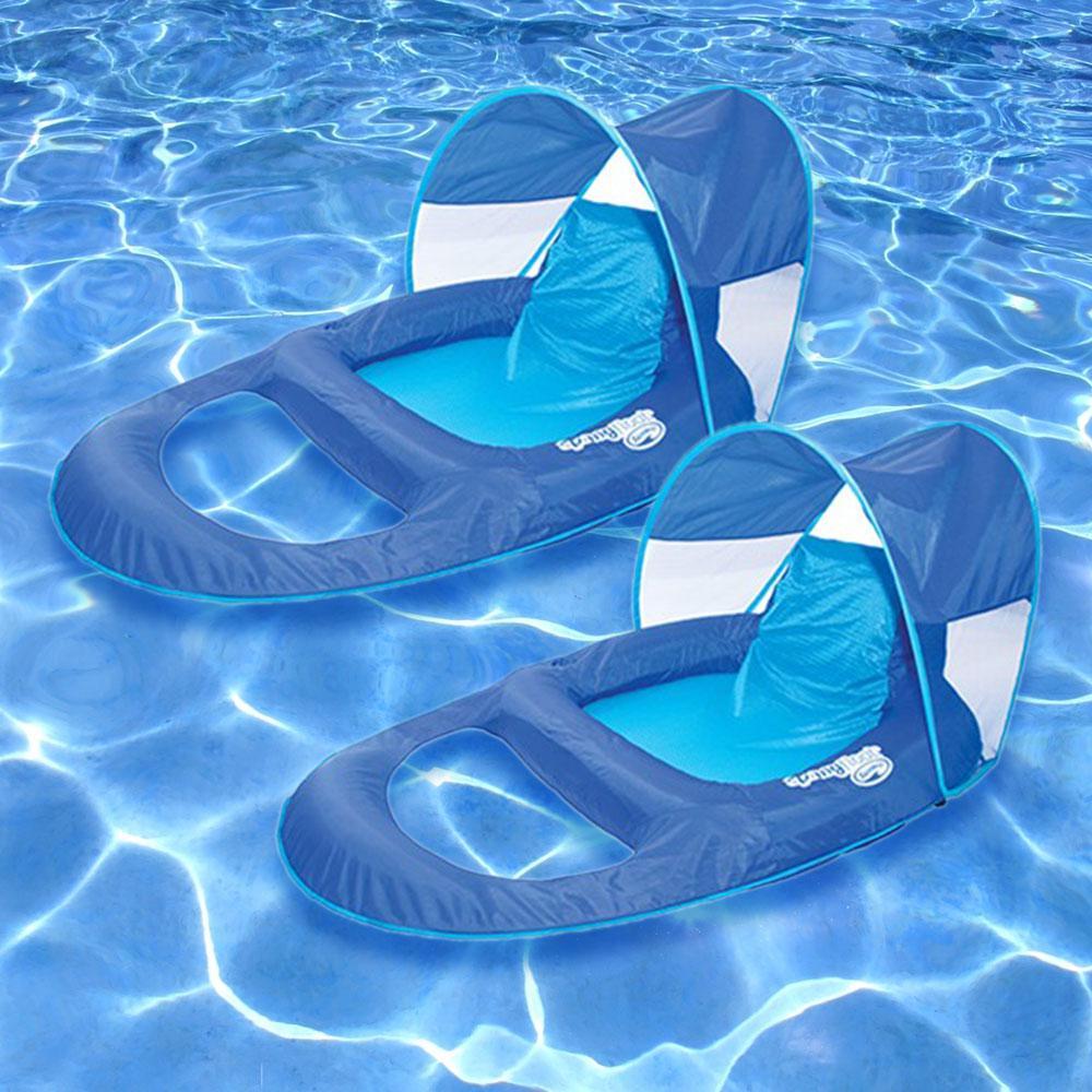 Swim Ways Spring Float Recliner Canopy Pool Float (2-Pack)-13022-02 ...