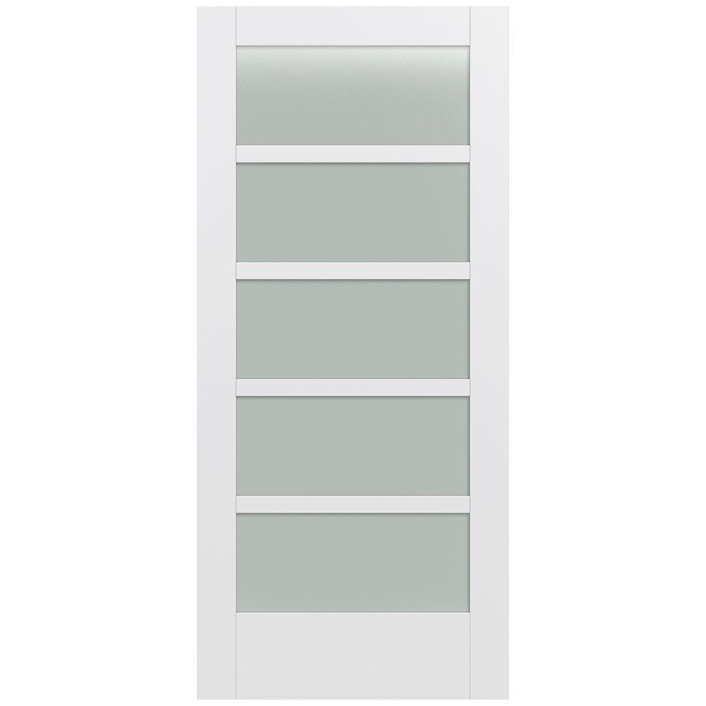 Jeld Wen 36 In X 80 In Moda Primed Pmt1055 Solid Core Wood Interior Door Slab W Translucent