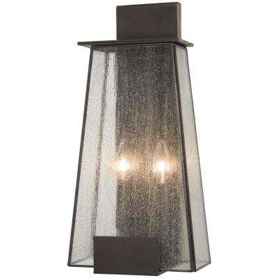 Bistro Dawn 2-Light Dakota Bronze Outdoor Wall Mount Lantern
