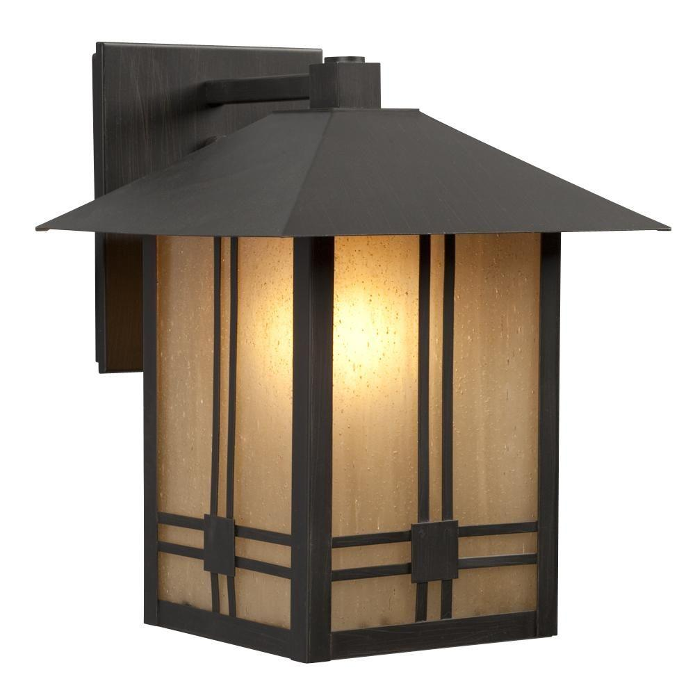 Filament Design Negron 1-Light Outdoor Black Wall Lantern