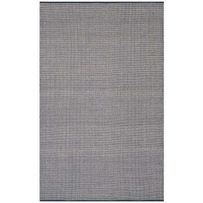 Montauk Ivory/Navy 6 ft. x 9 ft. Area Rug